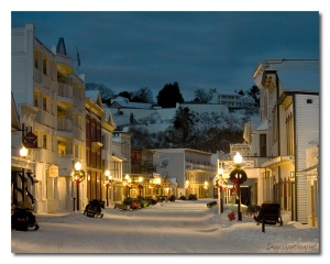 Mackinac winter street 2009