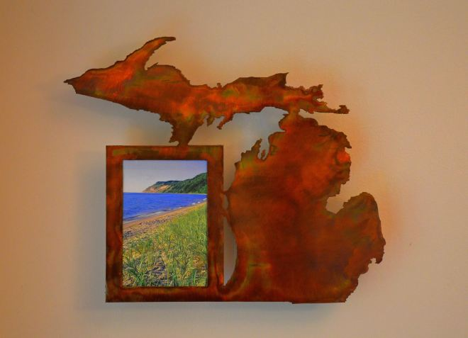 Michigan Picture Frame 4x6 in Rustic Copper
